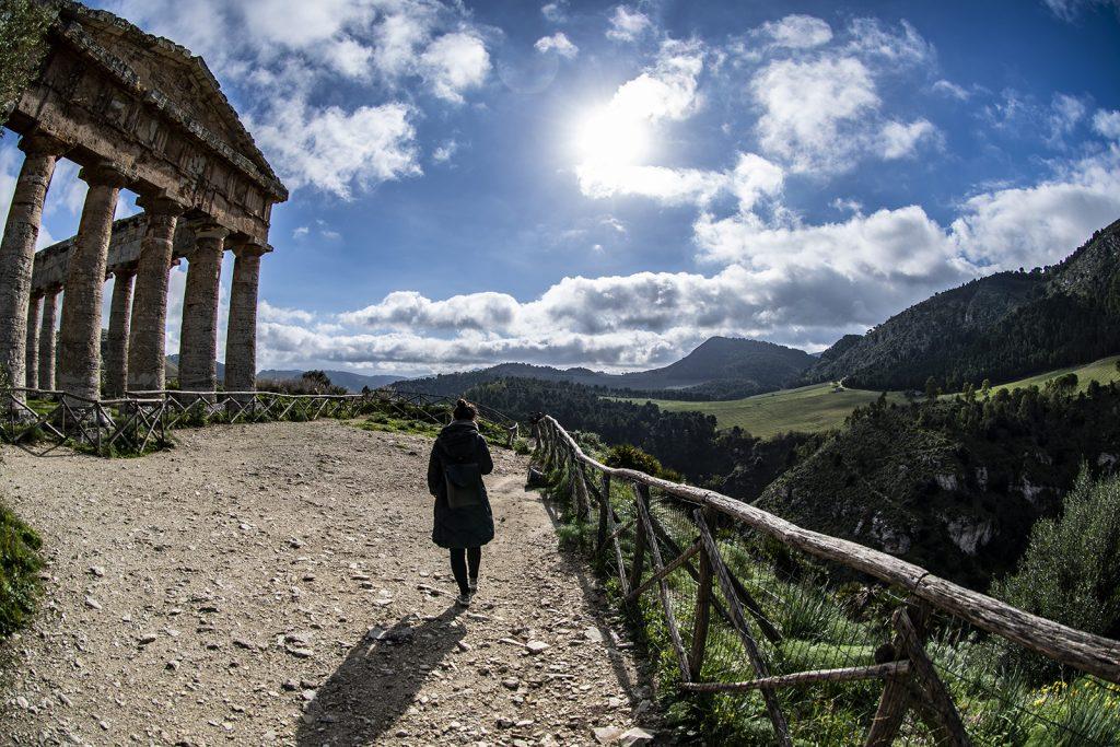 Eva al Tempio di Segesta
