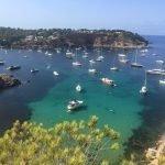 Ibiza, la cala di Porroig vista dall'alto.