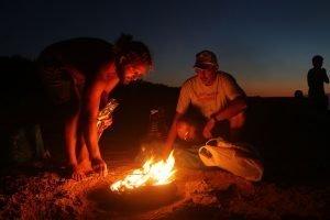 Grigliata sulla spiaggia - Formentera al tramonto