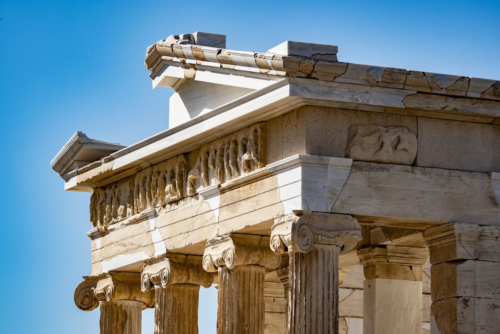 Acropoli di Atene, Athena Nike. Vacanza in barca a vela
