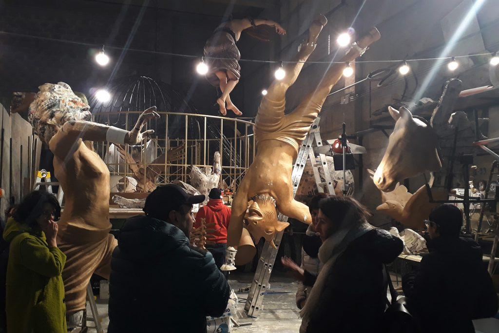 Carri di carnevale di Putignano in anteprima