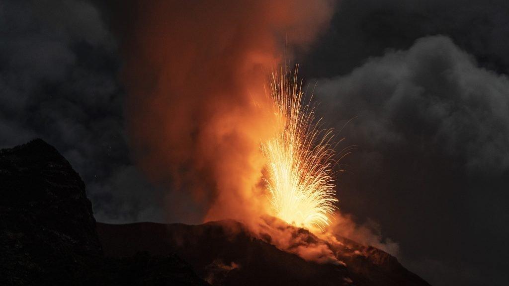 stromboli in eruzione